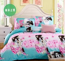 Tencel cama série set! Camurça sintética tecido