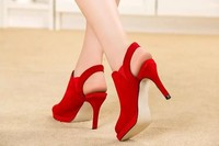 lady high heel bridal fancy peep toe slingback latest fashion girls sandals
