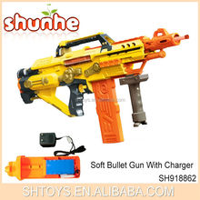 Powerful Electric Fully Automatic Plastic Soft Bullet Gun Toy With Charger