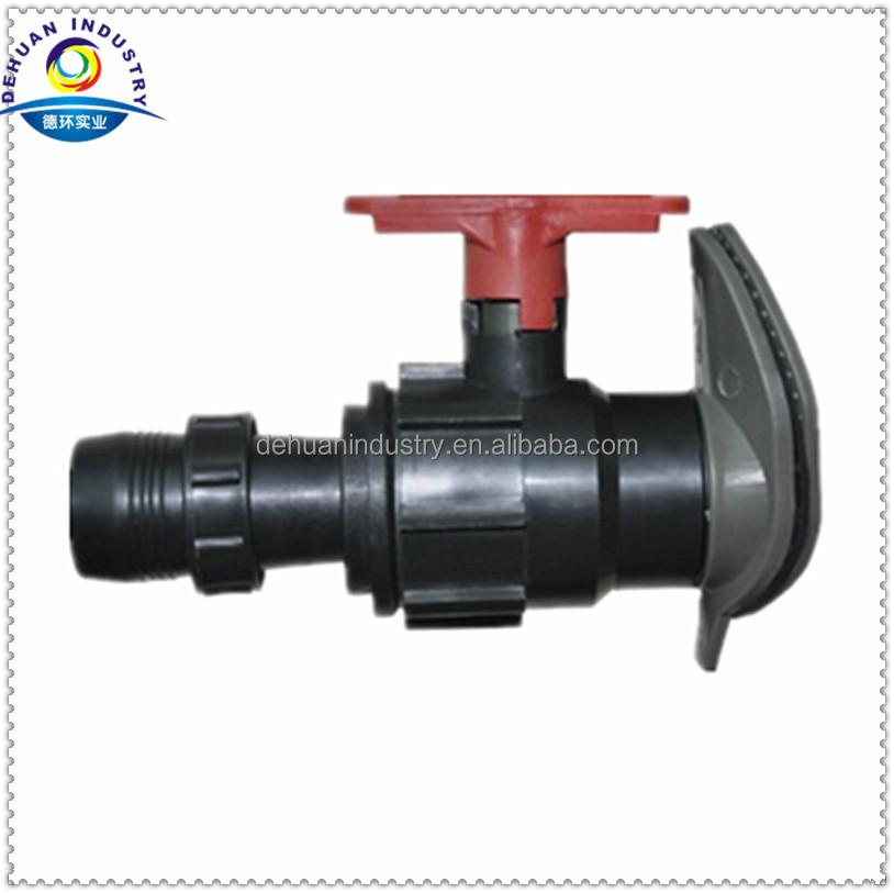 Irrigation sprinkler hose parts offtake valve for layflat