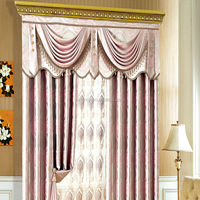 oriental popular cheap good quality hotel blackout jacquard upholstery curtain fabric