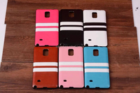Crazy Horse Striped skinning phone tpu and leather phone case protective cover for samsung s5 s6