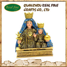 Hot New product resin religious mother mary and son bust statue molds for sale