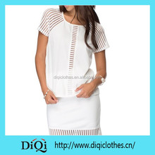 Woman Raglan Sleeves White Plain Women Clothes