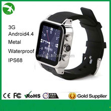 ip67 waterproof smart watch for watch phone new fashion in 2015 support android, bluetooth, wifi, GPS