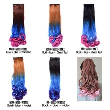 hot selling grade 7A colorful synthetic ponytail at aliexpres