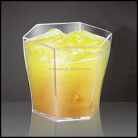 2oz 3oz HEXAGON DISPOSABLE DESSERT CUPS PLASTIC SHOT GLASS FOR APPETIZERS,custom plastic dessert cup china suppliers factory