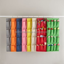 Fashion Non-woven 20 pockets hanging closet shoe organizers colorful shoe rack organizer