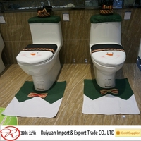 Hot sell European fashion Christmas Snowman costume/cloth/suit toilet seat cover