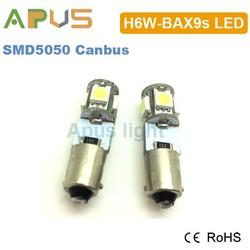 High brightness SMD5050 BAX9s h6w led light