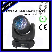 Top striving 12x12w quad flower led cree moving head beam and gobos