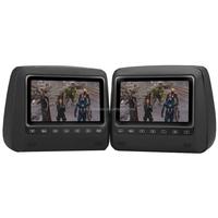 Headrest DVD Player Set - 2 Headrest Monitors, 7 Inch TFT LCD Display, 800x480 Resolution, PAL, NTSC