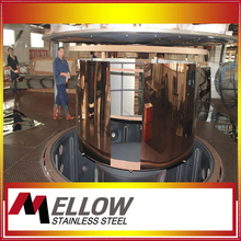 201 0.9mm Mirror Rose Golden Polished Decorative Stainless Steel Sheet Manufacturer in Foshan China
