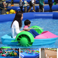 Exclusive Manufacturer Lowest Price Fwulong Kids And Adults Hand Paddle Boat Plastic Boats For Water Play Game