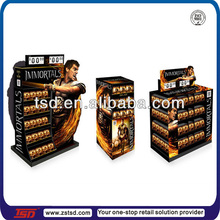 TSD-M149 eye-catching metal retail dvd display stand/floor dvd retail stands/dvd store display stand