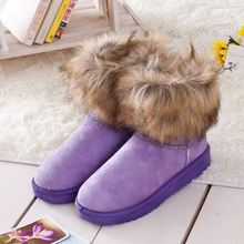 2014 new fashion women's snow boots in the tube snow boots fur snow boots shoes factory outlets