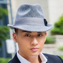 Wool Felt Light Grey Panama Hat Winter