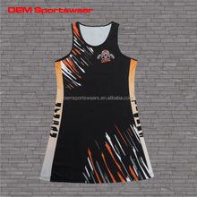Top diseño señora de netball de vestimenta con uniforme wholesale vestido de tenis