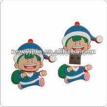 1-32G capacity promotion USB flash drive chirstmas gift happy kids cute