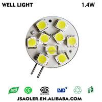 10-30V g4 1.4w led 5050 car led spot light 12v led light bulb