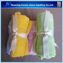 YET CT1 116 Woven Technics and Queen Size modacrylic knitted throw baby blanket