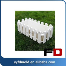 Alibaba Best Selling, Plastic wall type plastic garden fence railing mold plastic flower pots injection mold