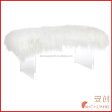 Mogolian Lamb fur bench