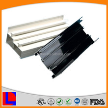 6000 series white and black powder coating aluminium profiles for industry, windows, doors, decoration