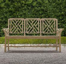 hotel patio wooden rustic bench/vintage outdoor garden furniture
