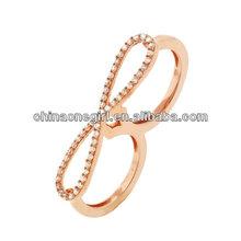 Two Finger Rose Gold Ring