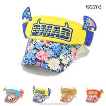 Wholesale Flower Printing Visor Baby Sun Hat With WIngs