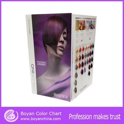 OEM fashion color mixing chart & hair colour chart manufacture