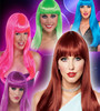 2014 New arrival funny custume party carnival fans wigs