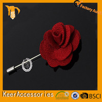 2015-2016 Fashion hot sale festival fabric red flower brooch corsage