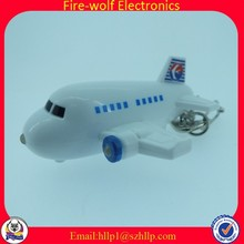 China supply for sound LED airplane key key ring
