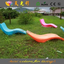 TGC plastic garden chairs and LED illuminated furniture for outdoor furniture, hotel furniture