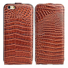 China manufacturer standing filp crocodile case for iphone 6 plus