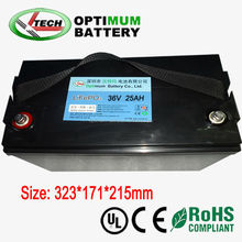 36V 25AH lifepo4 battery for solar wind power street light with CE RoHS