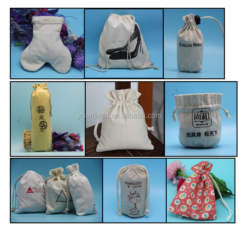 wholesale cute 100 organic cotton pouch,small cotton canvas tote bag with customized logo and pattern