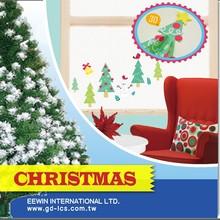 2015 Wholesale Christmas Tree Jingle Bell Wall Ornament Sticker