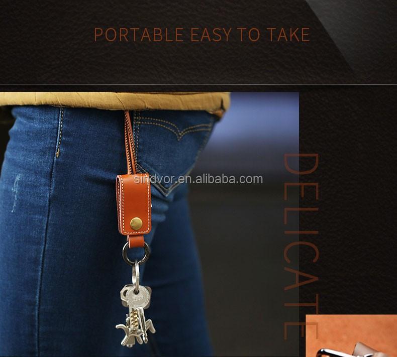 Кожаный брелок usb кабель зарядного устройства для iphone