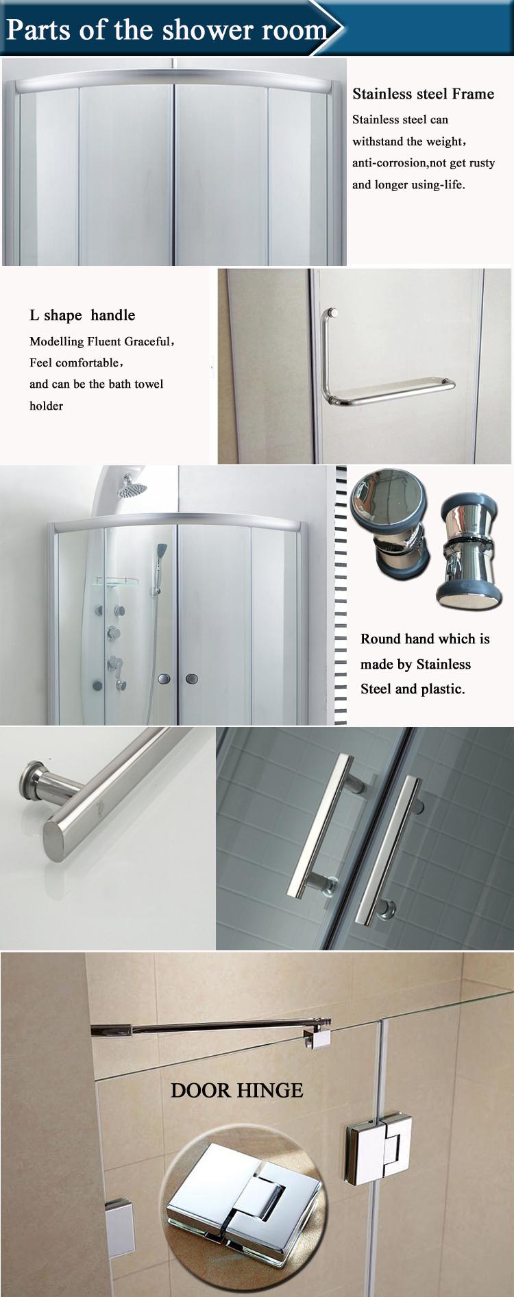 Hs-sr005b Curved Glass Shower Enclosure/ Corner Shower Room Round/ D ...