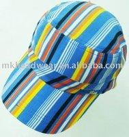 Corduroy rmy cap with strip printing