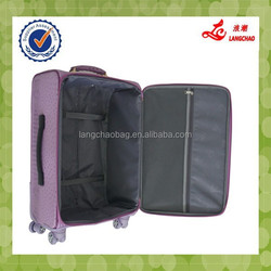 Hot Selling 4 Wheels Pink Color Girls Unique Travel Luggage