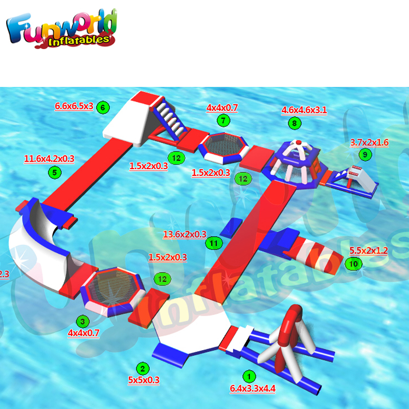 Inflatable Water Slide Dubai: Lake New Forest Inflatable Water Park Dubai Inflatable
