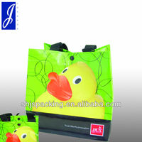 laminated pp non-woven shopping bag with plastic snaps