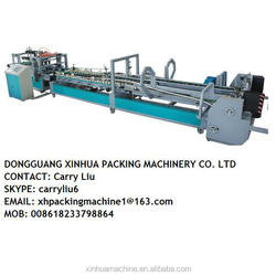 Corrugated cardboard folding gluing machine/carton box folder gluer