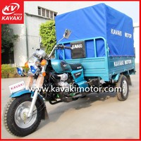 KAVAKI 3 Wheel Gas Scooter/Cargo Tricycle with Cabin/Adult Tricycle Made in China