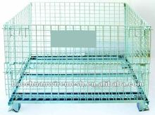 collapsible metal storage cage folding mesh container