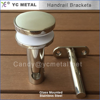 304 Stainless Steel Mirror Glass Mounted Handrail Bracket For Stair